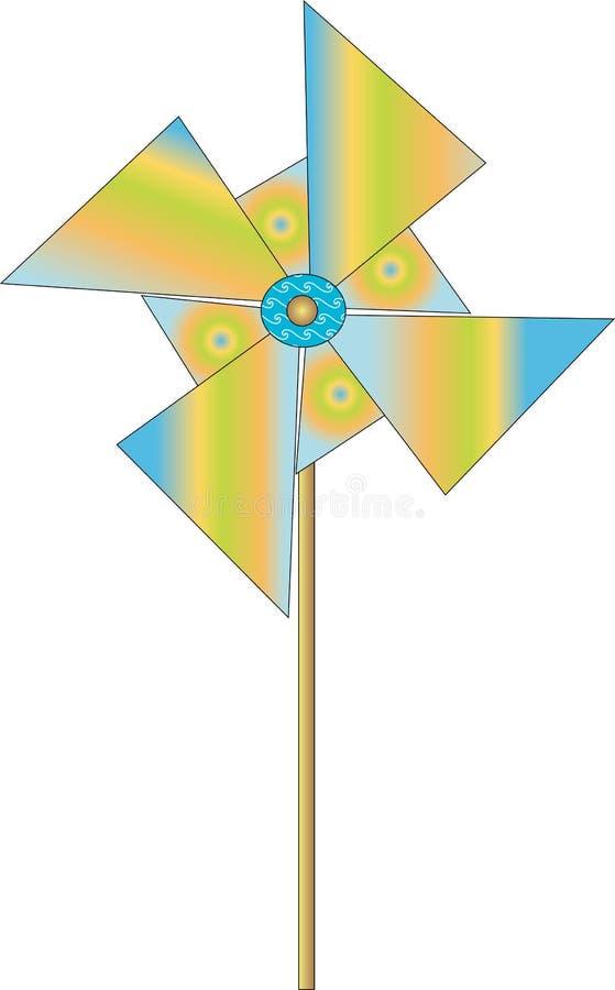 Projeto do moinho de vento de Collorfull ilustração stock