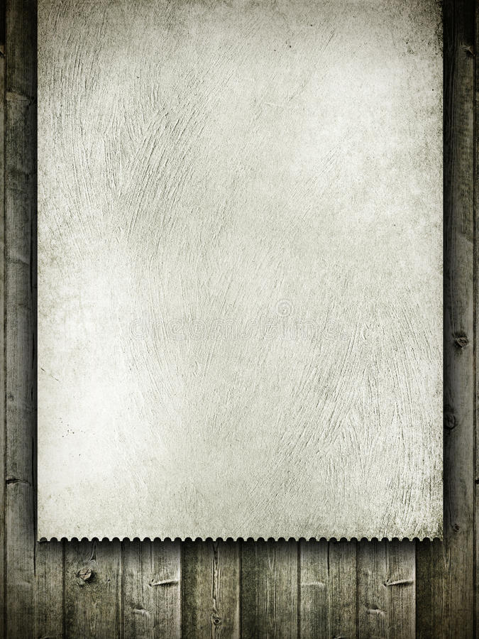 Projeto do molde - cartão do grunge na madeira fotos de stock royalty free