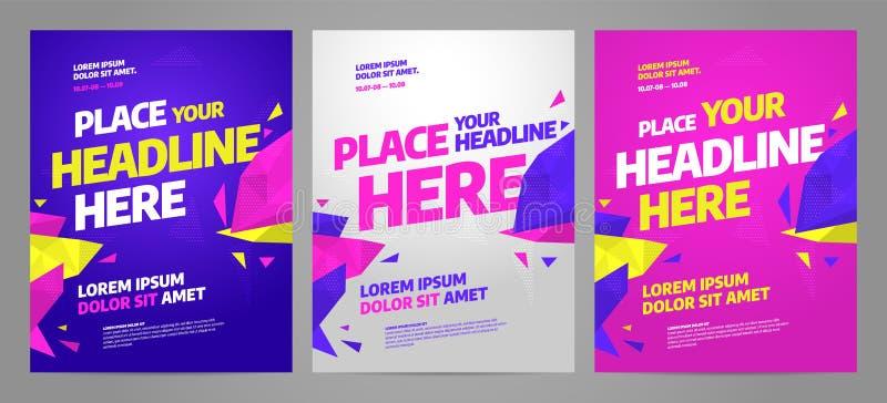 Projeto do molde do cartaz da disposição para o evento desportivo