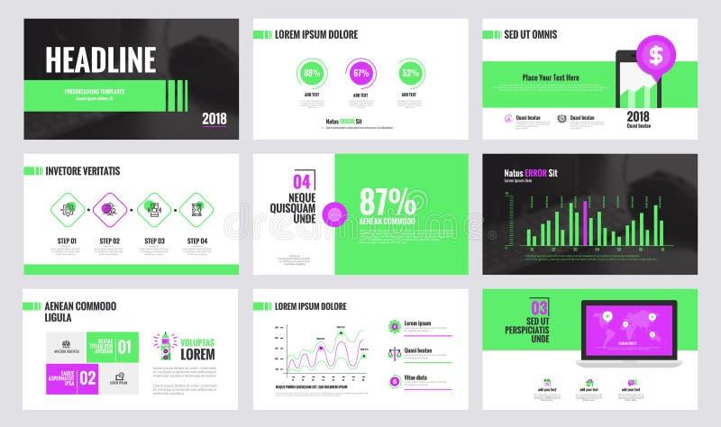Projeto 3 do molde da corrediça de Infographics ilustração royalty free