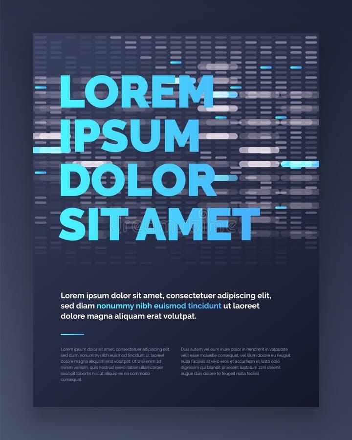 Projeto do molde da disposição do folheto no estilo do techno Vetor eps10 ilustração do vetor