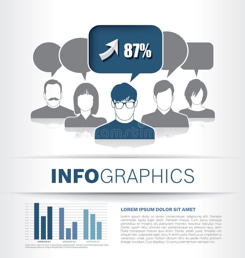Projeto do molde de Infographic ilustração stock
