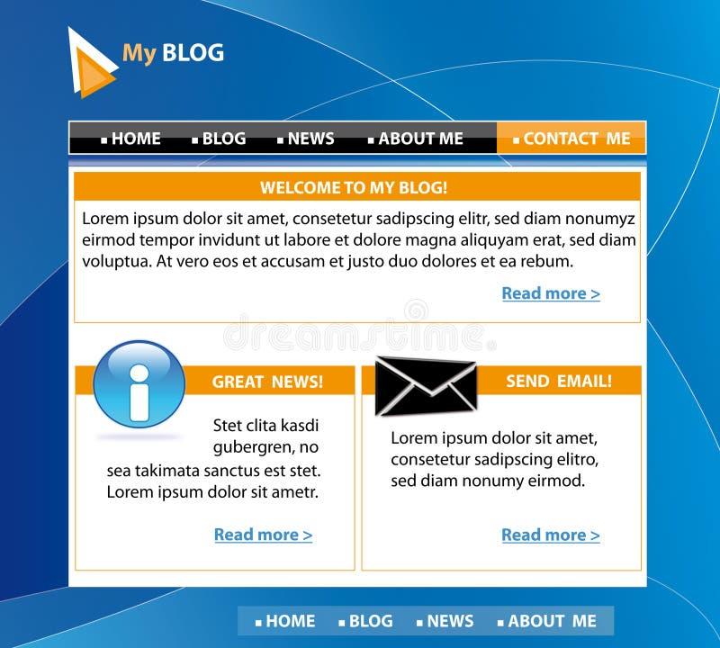 Projeto do molde do blogue ilustração do vetor