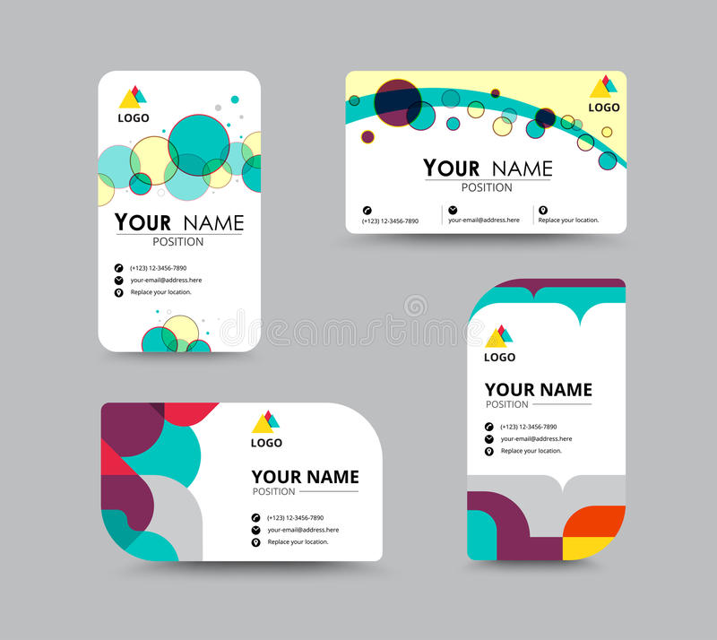 Projeto do molde do cartão do contato comercial Estoque do vetor ilustração stock