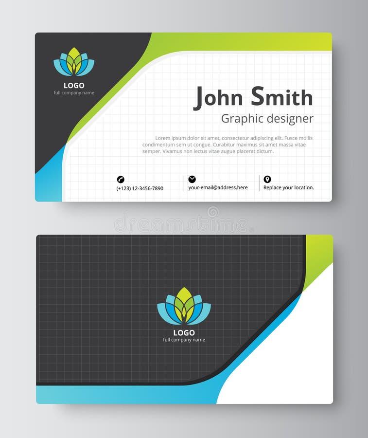 Projeto do molde do cartão do negócio introduza o cartão incluem s ilustração royalty free