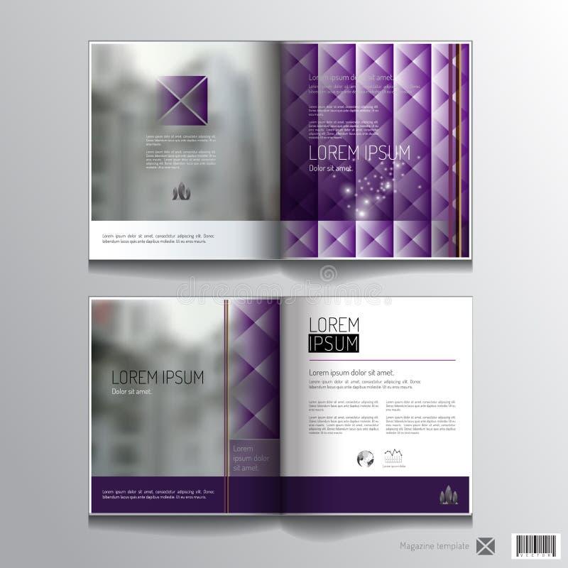 Projeto do molde do compartimento disposição de páginas Conceito luxuoso ilustração stock