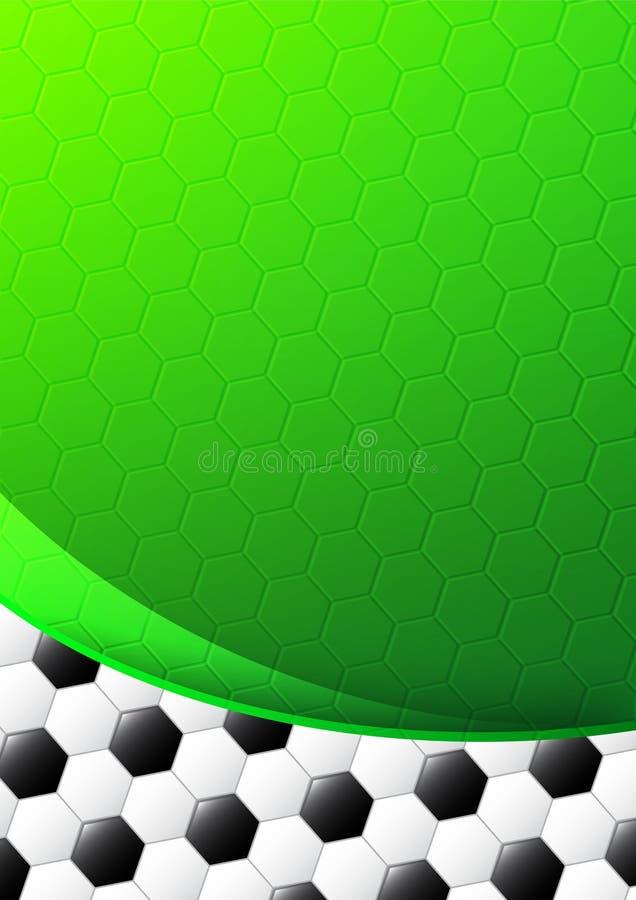 Projeto do molde do futebol ilustração do vetor