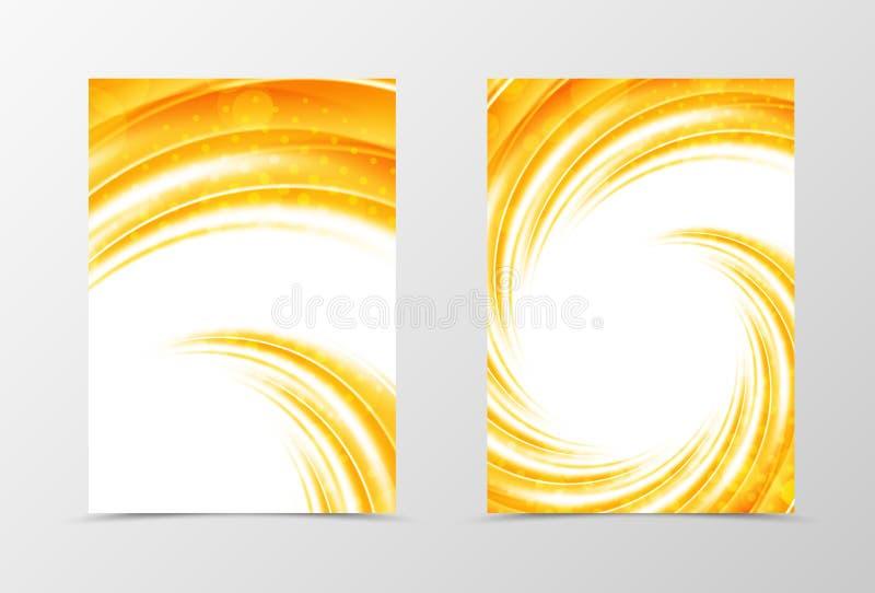 Projeto do molde do inseto do redemoinho da parte dianteira e da parte traseira ilustração royalty free