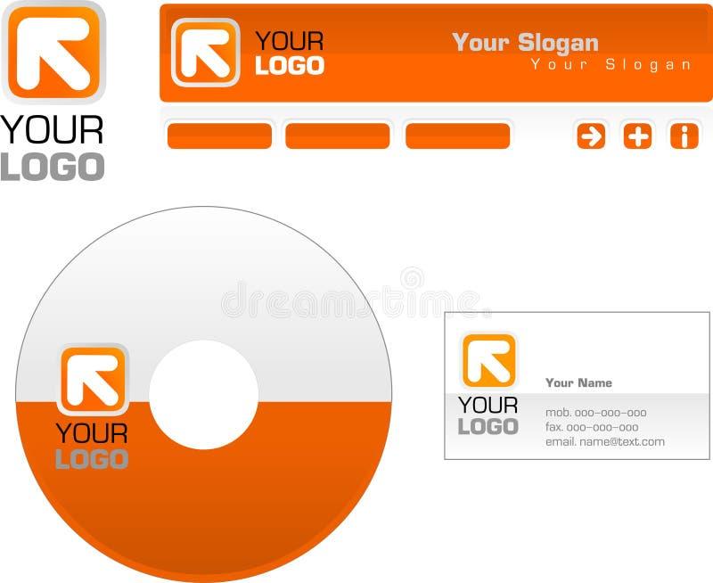 Projeto do molde do logotipo, cabeçalho, bandeira, heade ilustração royalty free