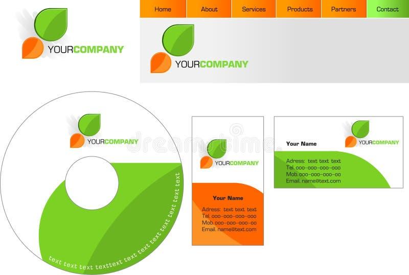 Projeto do molde do logotipo, lette ilustração do vetor