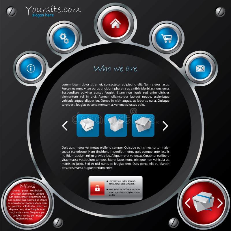 Projeto do molde do Web da tecnologia ilustração royalty free