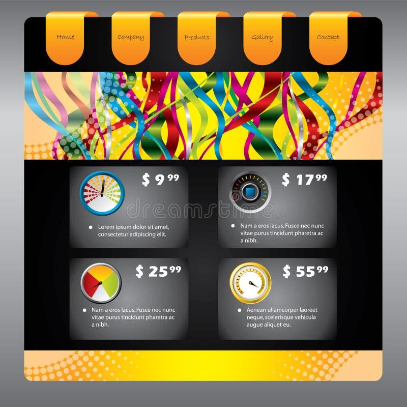 Projeto do molde do Web do cliente ilustração royalty free