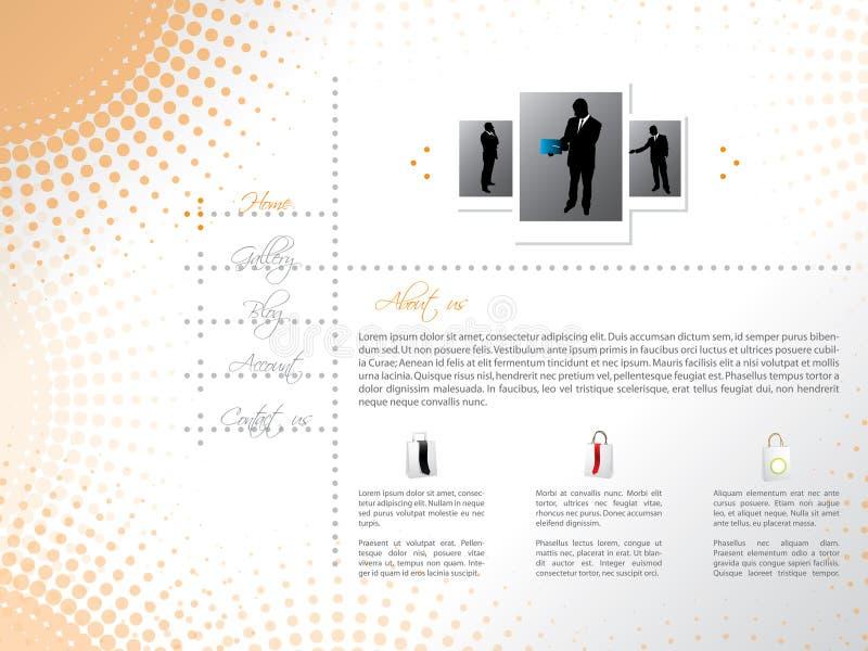 Projeto do molde do Web site com vendedores profissionais ilustração stock