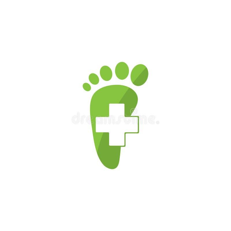 Projeto do molde do logotipo do cuidado de pé ilustração royalty free