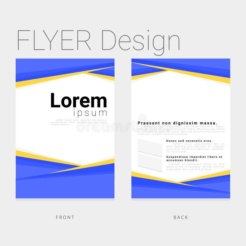 Projeto do molde para o negócio e incorporado modernos ilustração stock