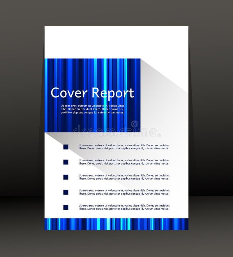 Projeto do molde para o relatório da tampa Inseto Cartaz no tamanho A4 ilustração do vetor
