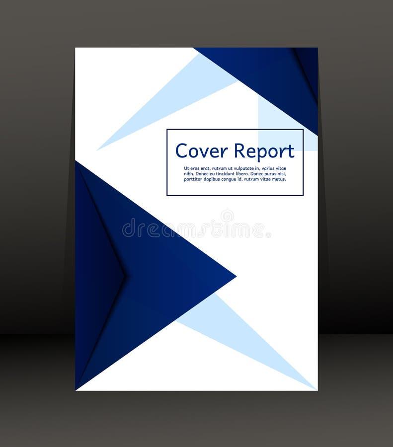 Projeto do molde para o relatório da tampa Inseto Cartaz no tamanho A4 ilustração royalty free