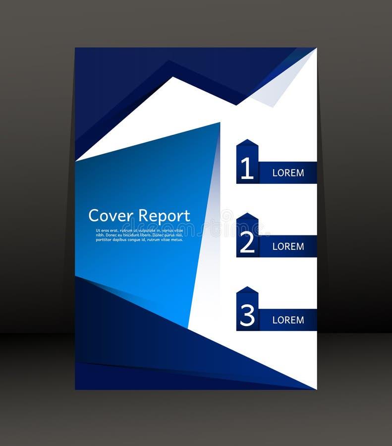 Projeto do molde para o relatório da tampa Inseto Cartaz no tamanho A4 ilustração stock