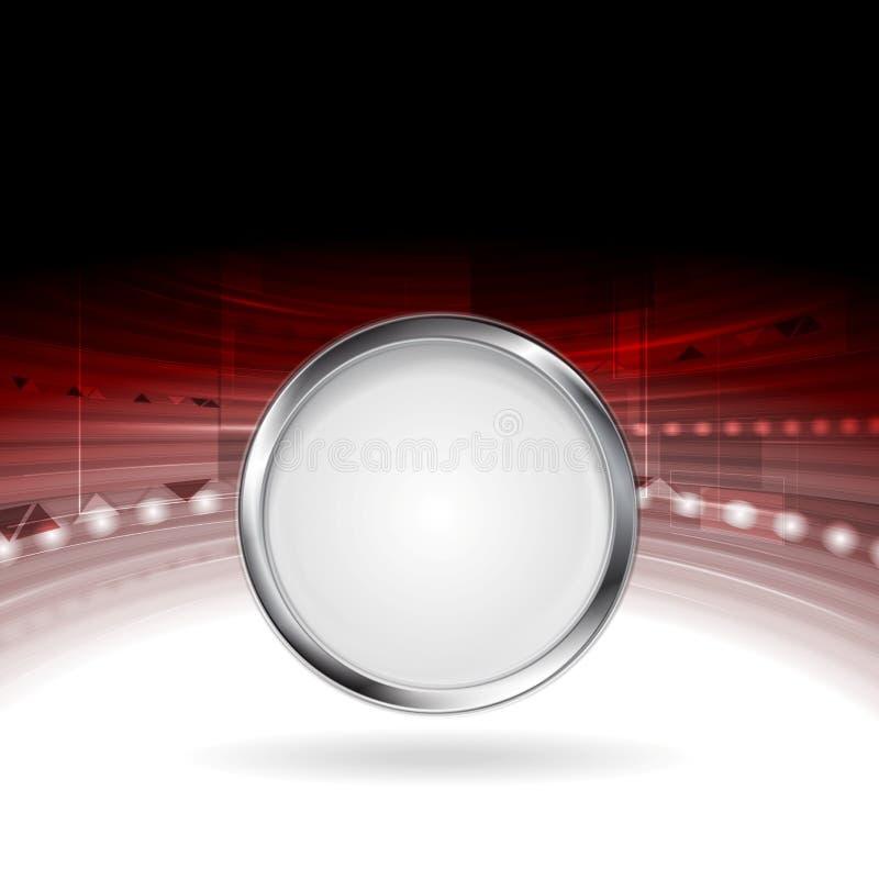 Projeto do movimento da tecnologia com quadro do círculo do metal ilustração stock