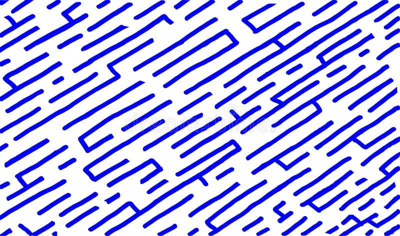 Projeto do número 15 do estilo do labirinto na cor azul brilhante ilustração royalty free