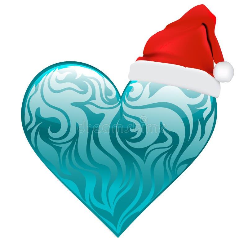 Projeto do Natal do coração ilustração royalty free