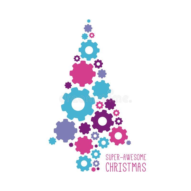 Projeto do Natal do vetor ilustração stock
