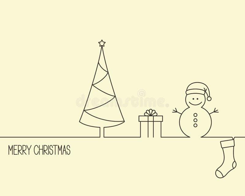 Projeto do Natal e do ano novo ilustração royalty free