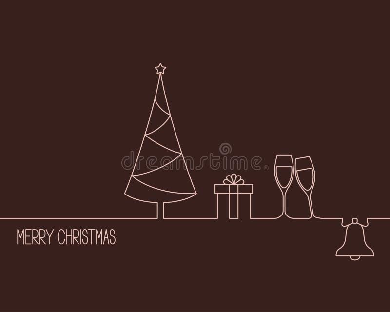 Projeto do Natal e do ano novo ilustração stock