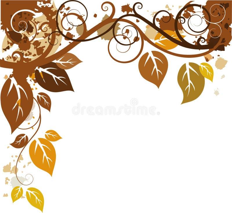 Projeto do outono ilustração stock