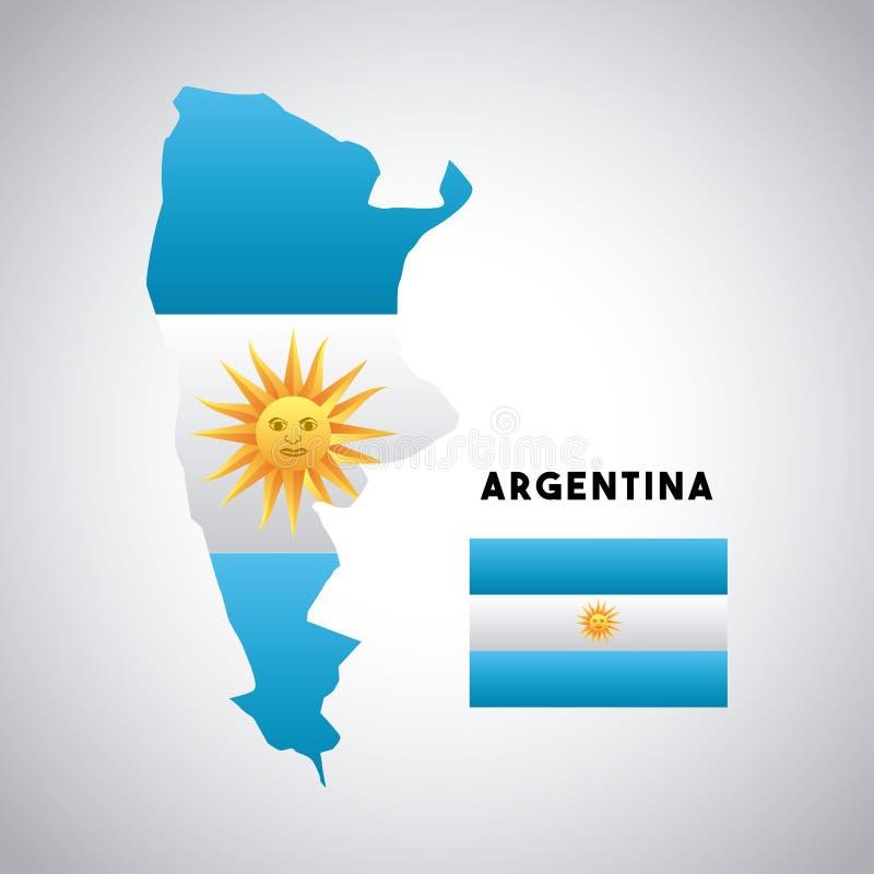 projeto do país de Argentina ilustração do vetor