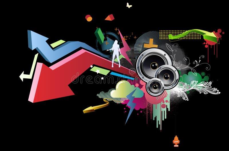 Projeto do partido ilustração stock