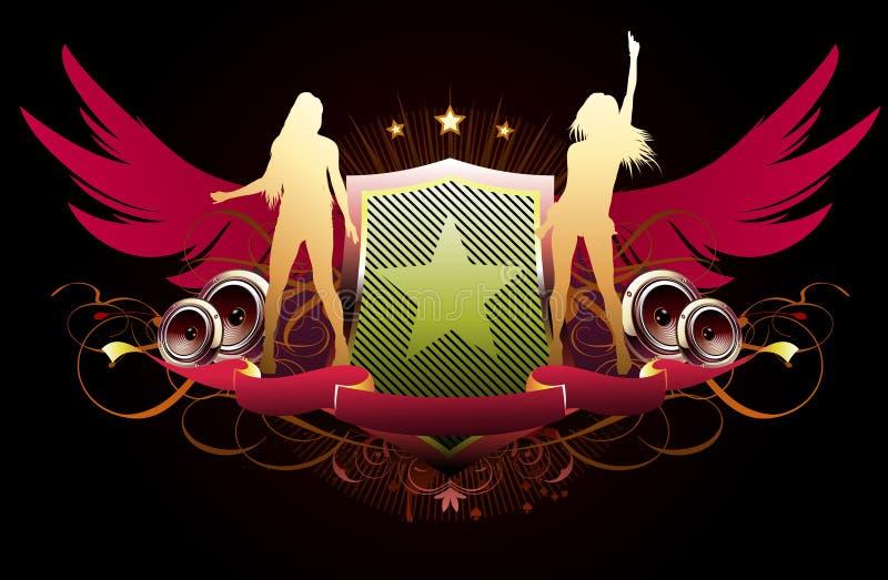 Projeto do partido ilustração royalty free