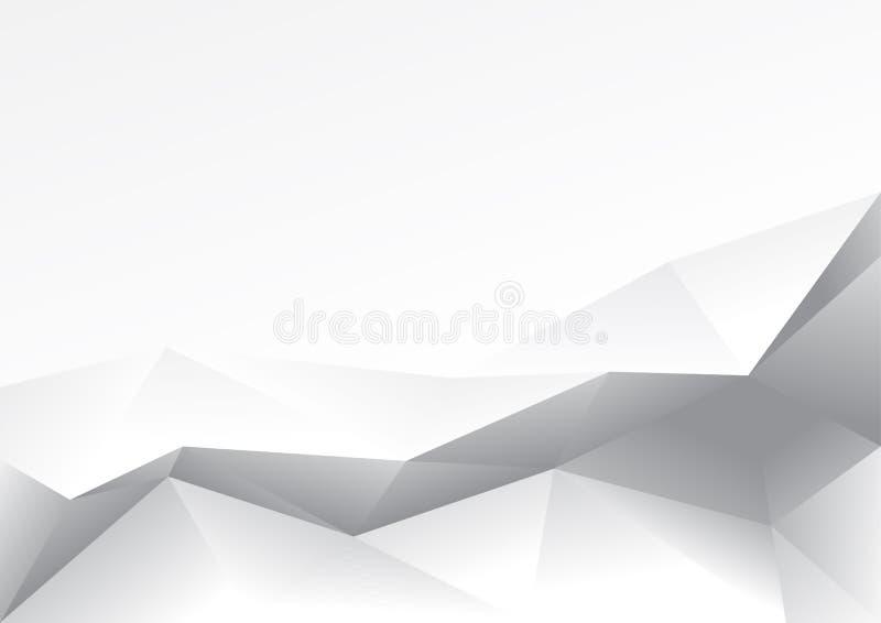 Projeto do polígono do sumário do fundo dos vetores ilustração do vetor
