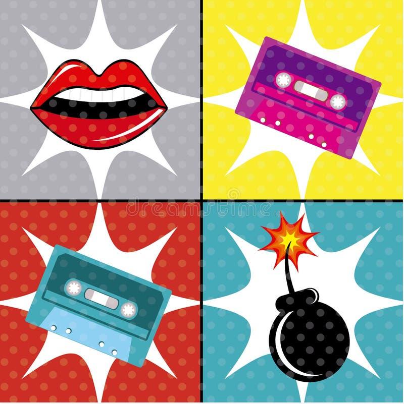 Projeto do pop art ilustração royalty free