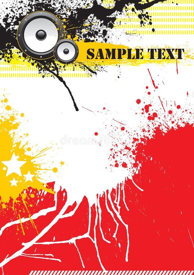 Projeto do poster da música de Grunge ilustração royalty free