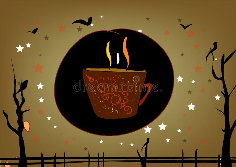 Projeto do poster do café ilustração royalty free