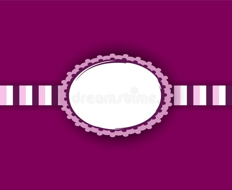 Projeto do quadro do bebê no rosa e no roxo Copie o espaço para sua foto! ilustração royalty free