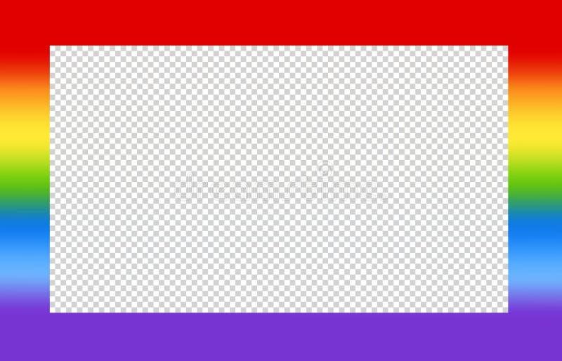 Projeto do quadro com cor do arco-íris ilustração royalty free