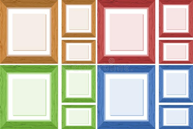 Projeto do quadro em quatro cores diferentes ilustração stock