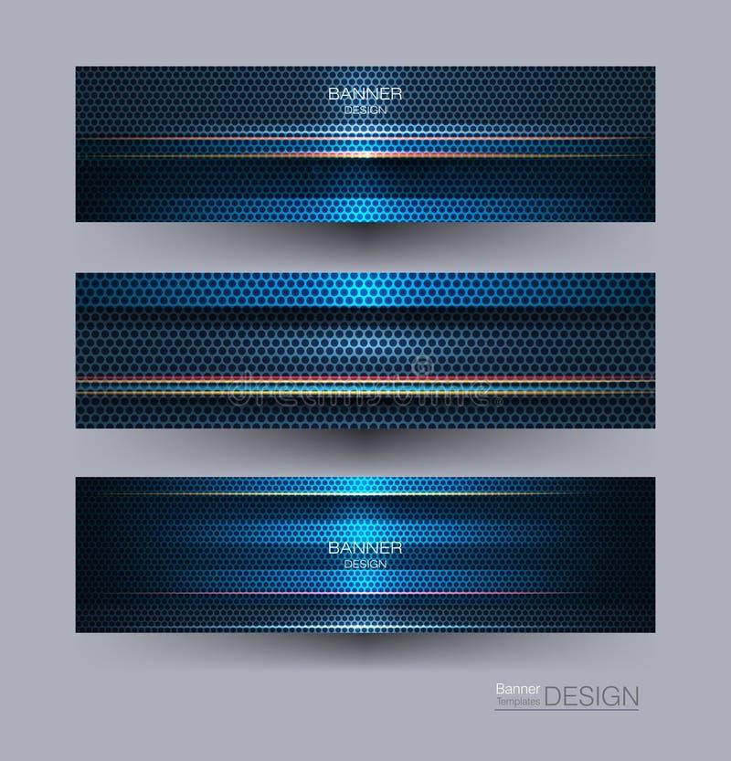 Projeto do quadro do metal para o fundo Conceito moderno da tecnologia digital do projeto do vetor ilustração do vetor