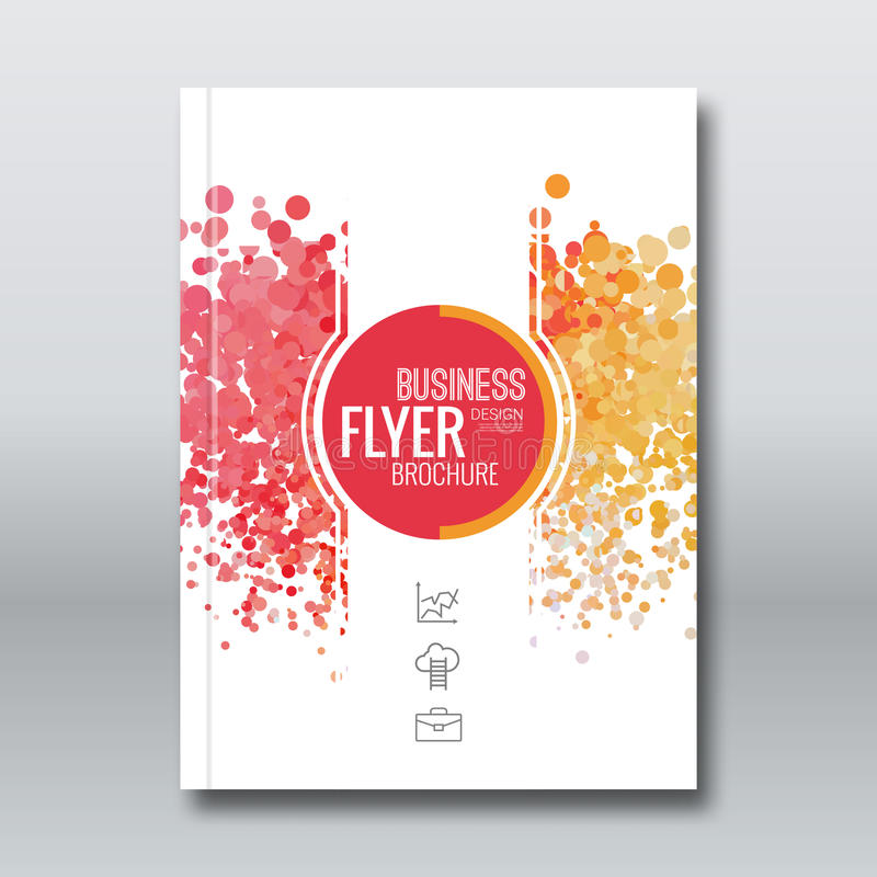 Projeto do relatório comercial, molde do inseto, fundo com pontos coloridos ilustração royalty free