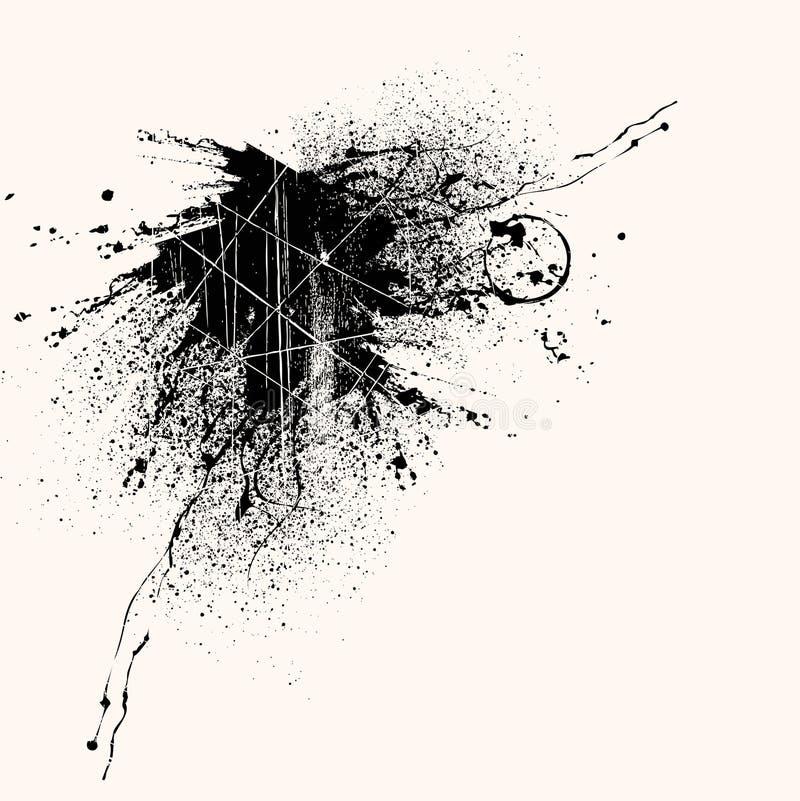 Projeto do respingo de Grunge ilustração royalty free