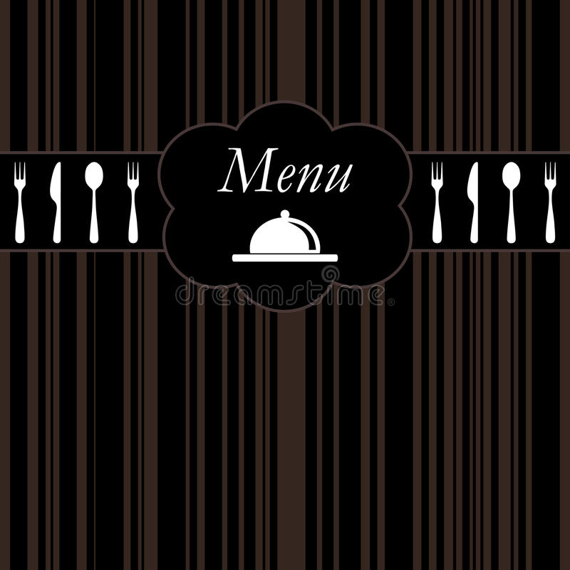 Projeto do restaurante ilustração stock