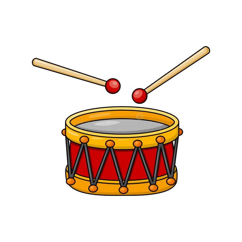 Projeto do símbolo do ícone dos desenhos animados do cilindro isolado no fundo branco ilustração royalty free