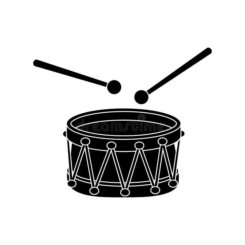 Projeto do símbolo do ícone dos desenhos animados da silhueta do cilindro isolado no fundo branco imagem de stock