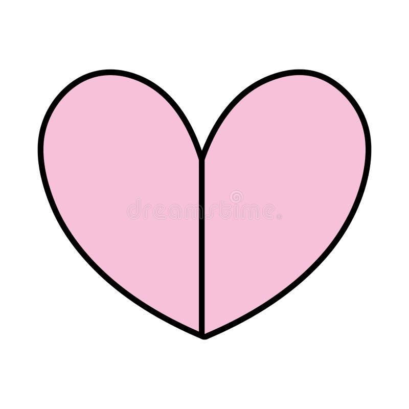 Projeto do símbolo do amor do coração da beleza da cor ilustração do vetor