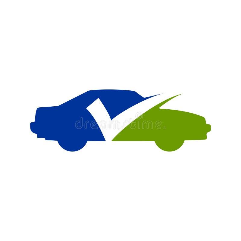 Projeto do símbolo do seguro da verificação do carro ilustração royalty free