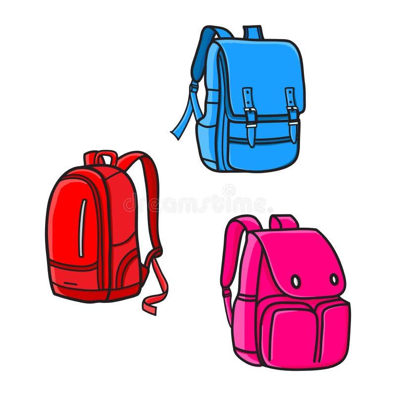 Projeto do saco de escola, ícone do vetor fotografia de stock