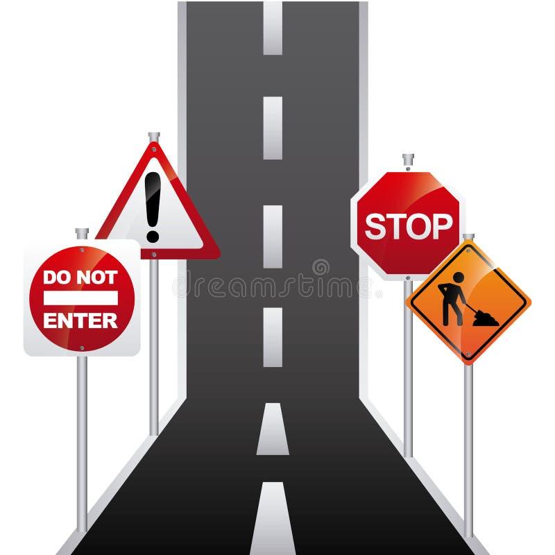 Projeto do sinal da estrada ilustração stock