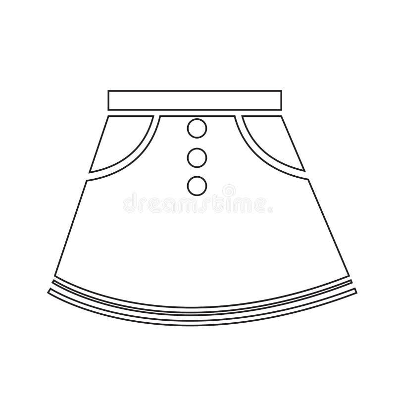 Projeto do sinal da ilustração do ícone das saias ilustração do vetor